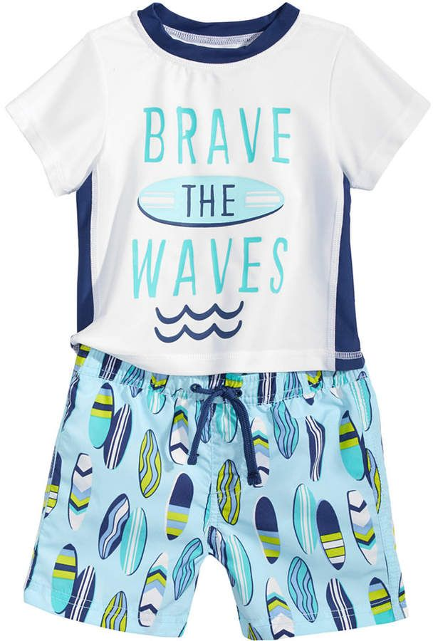 f4bc3fd98e First Impressions 2-Pc. Rash Guard & Swim Trunks Set, Baby Boys, Created  for Macy's
