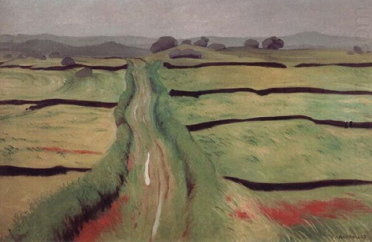 "huariqueje: "" Path in the Heathland - Felix Vallotton 1917 Swiss 1865-1925 Oil on canvas 60x92cm, """
