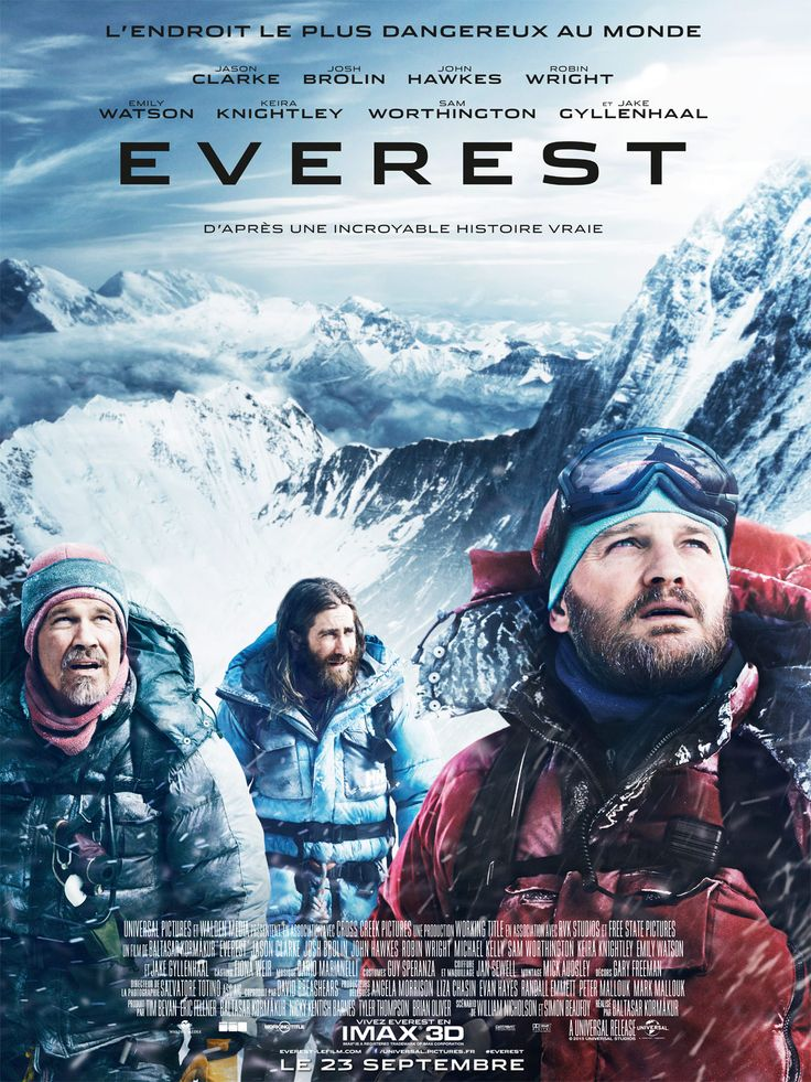 Everest est un film de Baltasar Kormákur avec Jason Clarke, Jake Gyllenhaal. Synopsis : Inspiré d'une désastreuse tentative d'ascension de la plus haute montagne du monde, Everest suit deux expéditions distinctes confrontées aux plus viol