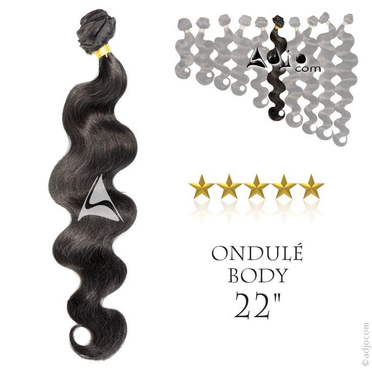 Tissage brésilien Ondulé Body Waves Haut de Gamme 22 pouces