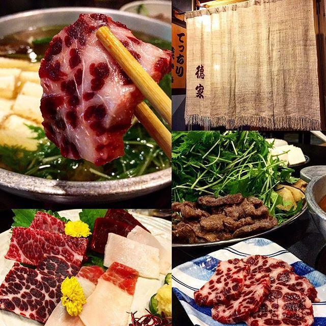 昨晩は嵐の中 大阪名物 鯨のはりはり鍋で🍶絶品です‼️ #はりはり鍋 #鯨 #鯨肉 #酒 #肉 #酒場放浪記
