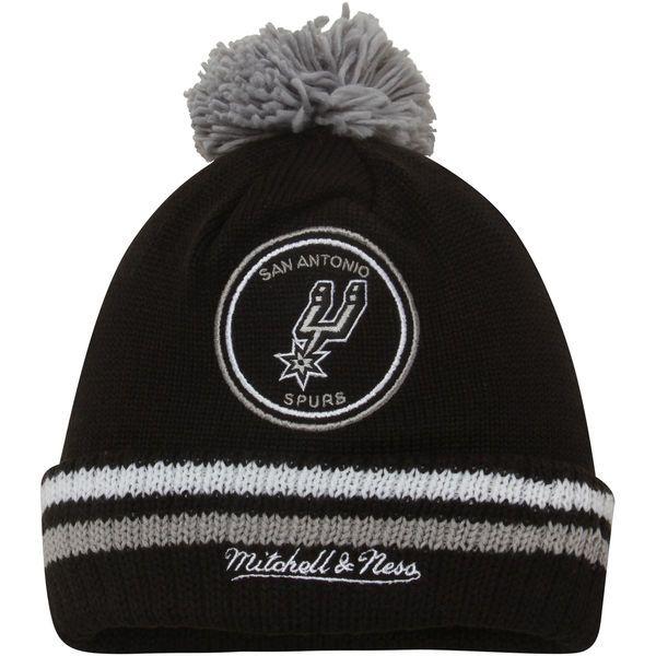 Men's San Antonio Spurs Mitchell & Ness Black Current Logo Big Man High 5 Cuffed Knit Hat, Your Price: $23.99