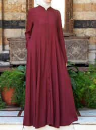 Shirt Dress with Godets