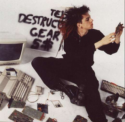 Cyberpunk hacker--Kurt of Information Society, '80s