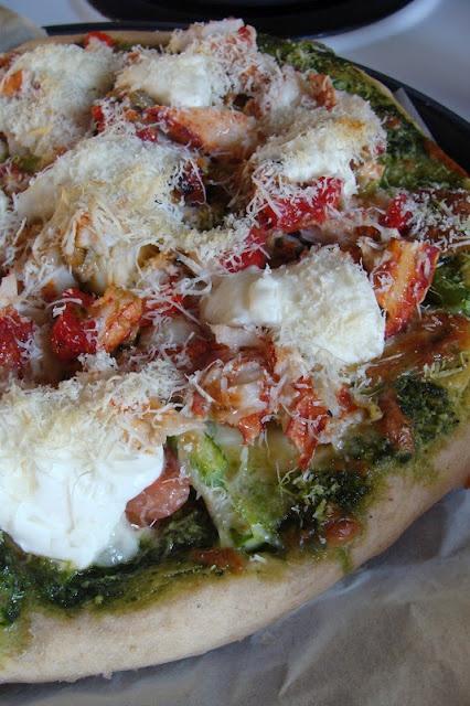 Pizza au homard