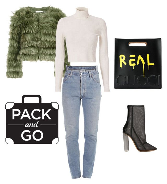 """""""Winter Getaway p.2"""" by luluuheree on Polyvore featuring Alice + Olivia, A.L.C., Vetements, adidas Originals and Gucci"""