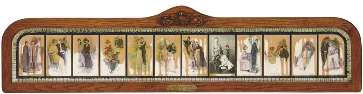 EDWARD KIENHOLZ (1927-1994)  The Marriage Icon (Gemini 367)  photo offsets on black Arches, photograph and lace collage with hand- applied watercolor and polyester resin in oak and Plexiglas frame, 1972, incised signature on the attached brass plate, numbered 7 (from the edition of 75), published by Gemini G.E.L., Los Angeles, minor rubbing to the edges of the frame, otherwise in very good condition Overall: 12¾ x 52¼ in