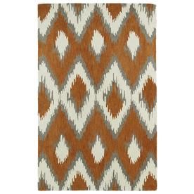 Kaleen Global Inspiration Paprika Rectangular Indoor Handcrafted Southwestern Area Rug (Common: 8 X 10; Actual: 8-Ft W X