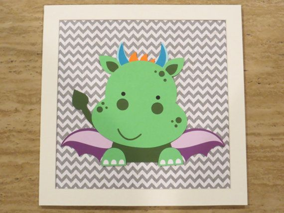 Baby Room ideas! I think I could make this dragon :-)