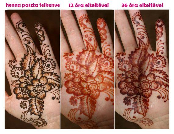 Mire figyelj, hogy a legsötétebb henna mintát elérd? #henna
