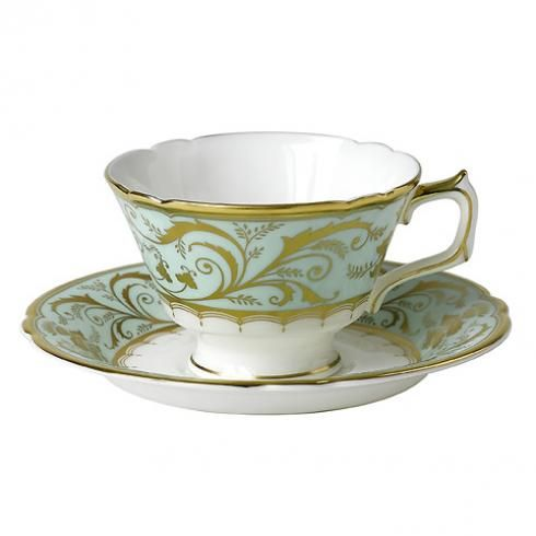 Royal Crown Derby: Darley Abbey Tea Cup And Saucer