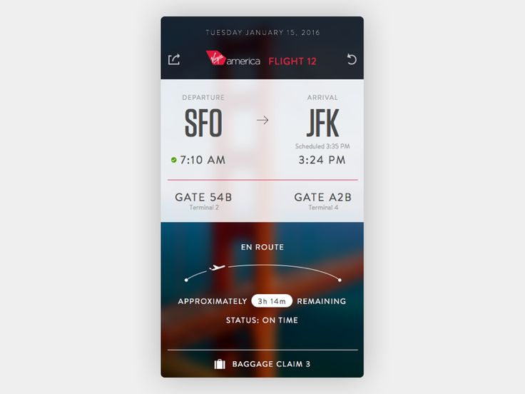 After a couple bad experiences lately, I started thinking about a what I would do with a flight status app. Since it was top of mind, I cracked open Sketch and fleshed out this daydream.