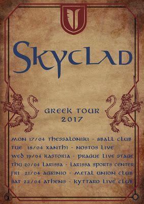 yearz of metal: SKYCLAD: Το καλεντάρι της ελληνικής περιοδείας