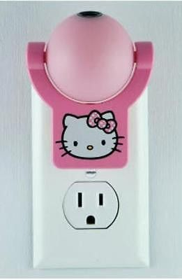 Hello Kitty Pink Night Light Projects Image to Ceiling Wall Floor Auto On Off