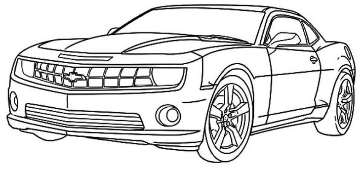 chevy camaro cars coloring pages | Cars coloring pages ...