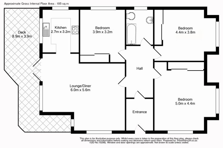 Classic Layout - 3 Bedroom Apartment - 105 sq.m - FloorPlans24 delivers a solution that works for YOU – Talk to us…