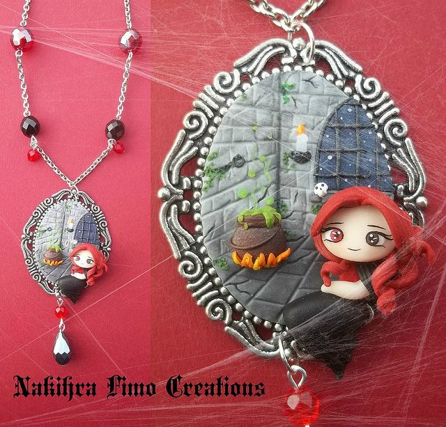 Witch Cammeo Polimer Clay | Flickr - Photo Sharing!