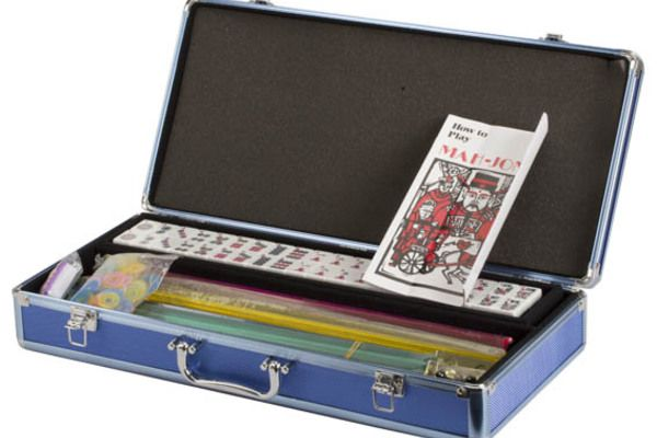Western Mahjong Set Blue Case, SALE $109, get in on the fun! Beautiful set for your MahJong Madness! #mahjonggamesets
