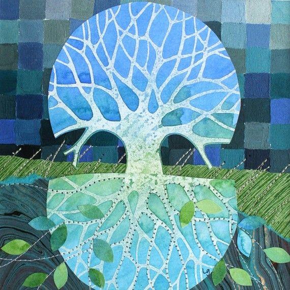 """Beneath"", an 8x8 print of original mixed media work by Artist Loretta Grayson (of QLD, Australia)  Beautiful Details..."