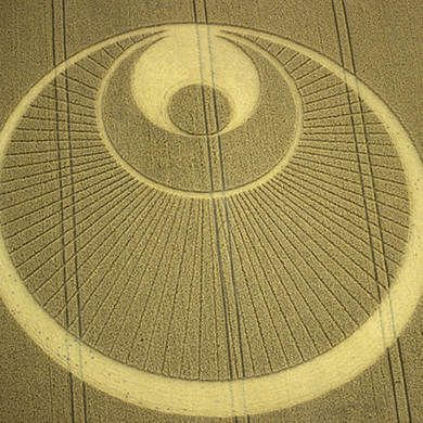 Crop Circle at Stapleford, Cambridgeshire, UK - 25 July 2001