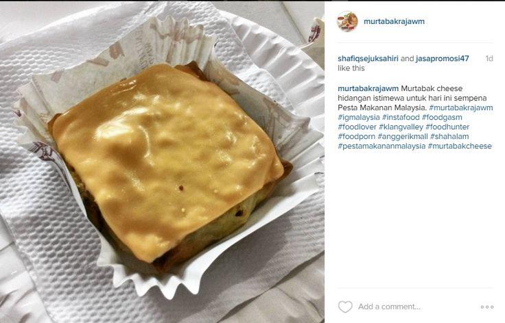 Murtabak cheese hidangan istimewa untuk hari ini sempena Pesta Makanan Malaysia. #murtabakrajawm #igmalaysia #instafood #foodgasm #foodlover #klangvalley #foodhunter #foodporn #anggerikmall #shahalam #pestamakananmalaysia #murtabakcheese