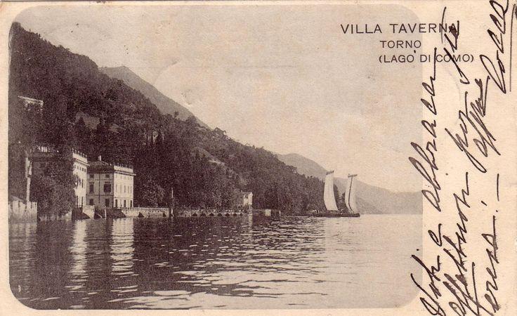 Old postcard of Villa Taverna | Torno #lakecomoville