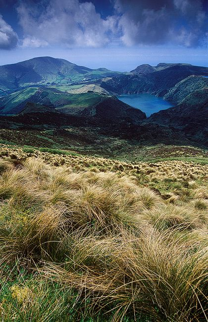 Fotografie Portugalsko, Azorské ostrovy (Azory) - fotografie přírody ostrova Flores. V pozadí jezero Funda.