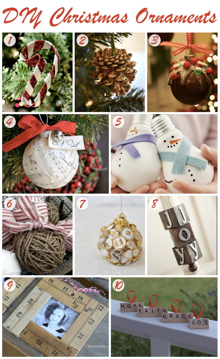 10 DIY Christmas Ornaments