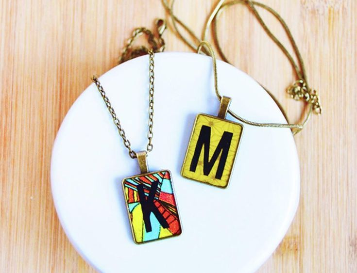 161 best pendant jewelry projects images on pinterest jewellery check out the tutorial to learn how to create this initialed diy pendant necklace for that aloadofball Image collections