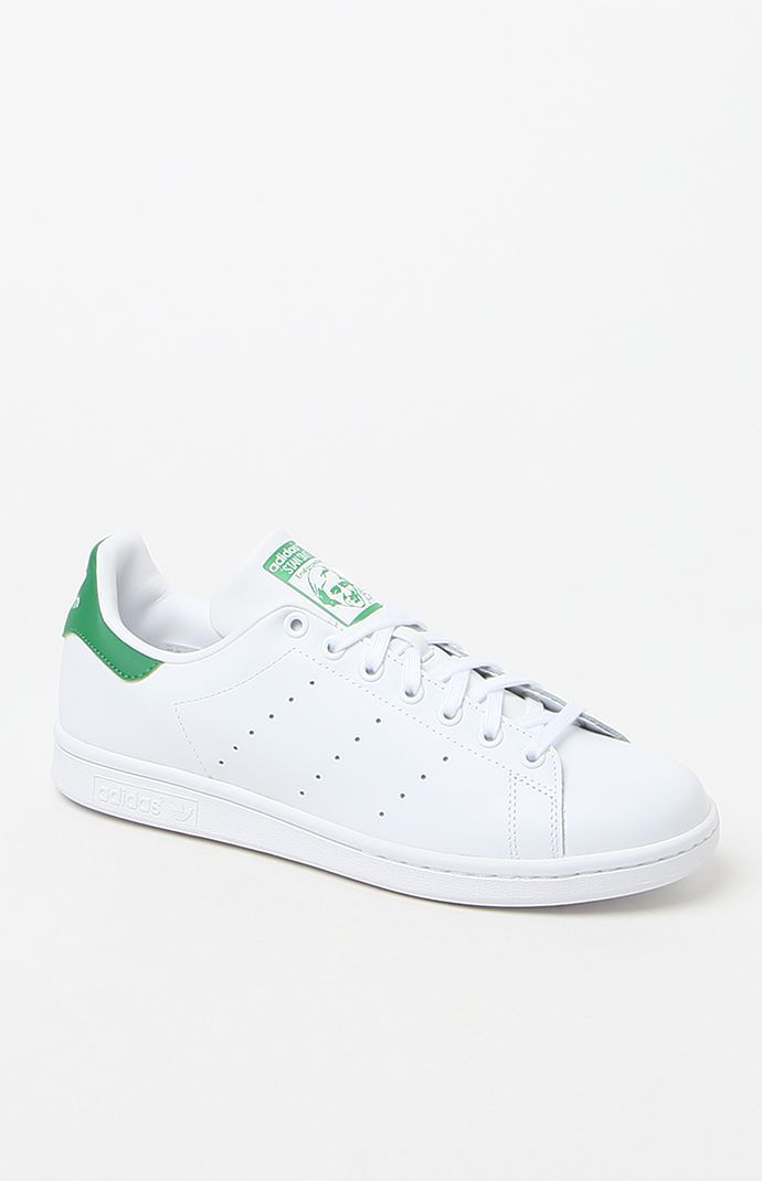 Stan Smith White & Green Shoes