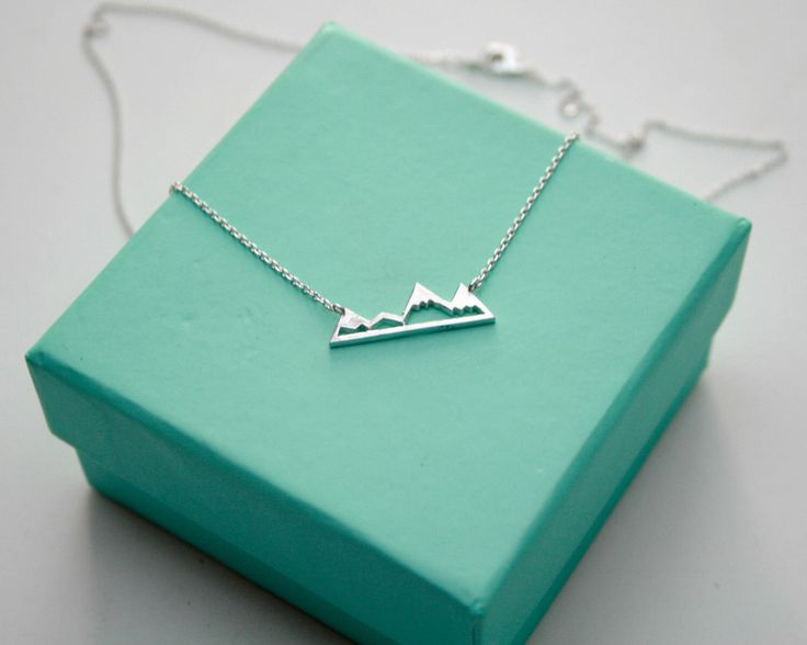 Silver Mountain Top Necklace, Dainty Mountain Pendant Necklace, Snowy Mountain Top Necklace, Mountain Charm, Nature Jewelry by TinksbyJustine on Etsy https://www.etsy.com/listing/222432561/silver-mountain-top-necklace-dainty