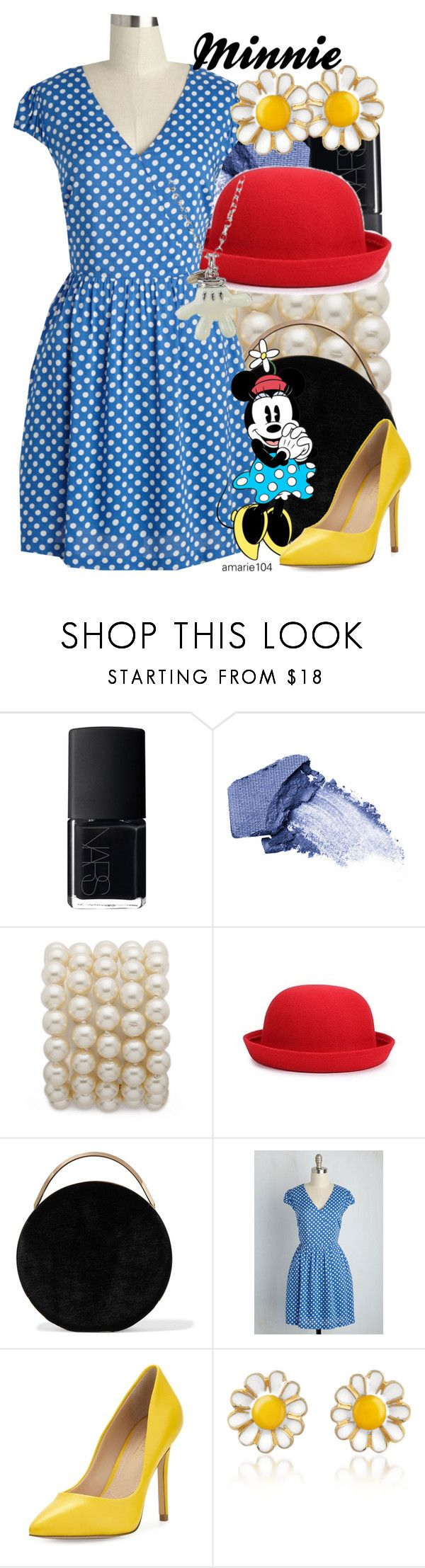 """""""Minnie"""" by amarie104 ❤ liked on Polyvore featuring NARS Cosmetics, Too Faced Cosmetics, Eddie Borgo, Charles by Charles David, AZ Collection and Disney"""
