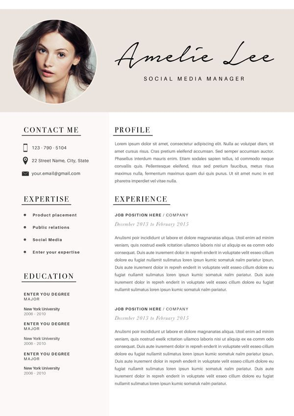 Social Media Pinwire Modern Resume Template Cv Template For Word Professional 39 Mins Ago Resume Design Free Resume Design Professional Resume Design