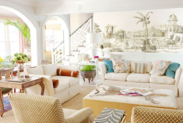 Ruthie Sommers: Dreams Houses, Living Rooms, Color, Wall Murals, Coastal Living, Families Rooms, Ruthie Sommer, Florida Style, Dreams Beaches Houses