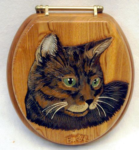 cat toilet seats | cat carved wood toilet seat | Flickr - Photo Sharing!