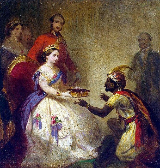 Баркер, Томас Джонс - Королева Виктория вручает Библию африканскому вождю. часть 1 Эрмитаж