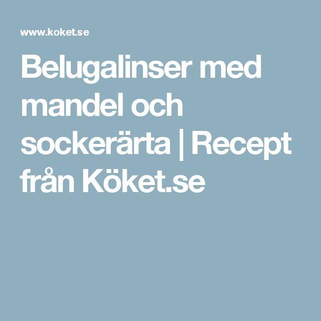 Belugalinser med mandel och sockerärta | Recept från Köket.se