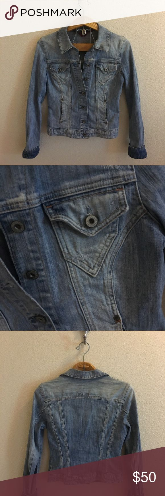 Vintage Guess Denim Jacket Size medium blue denim jacket by Guess. Vintage, medium wash. Pockets on the front. Buttons up the front as well. No flaws or signs of wear. Sturdy, thick Denim material. I ship daily - excluding Sundays and holidays - and I store items in a pet free, smoke free environment. Open to offers; bundles discounted! Guess Jackets & Coats