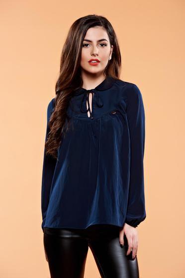 Bluza PrettyGirl Iconic Design DarkBlue - http://hainesic.ro/bluze/bluza-prettygirl-iconic-design-darkblue-d97a16c69-starshinersro/