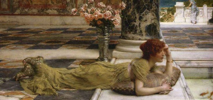 lawrence alma-tadema | British Paintings: (Sir) Lawrence Alma-Tadema - Goldfish