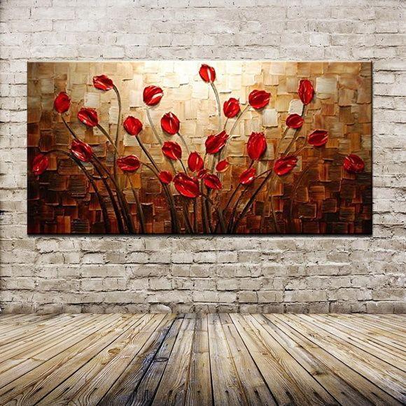 Quadro pintura em tela Abstrato buquê                                                                                                                                                      Mais