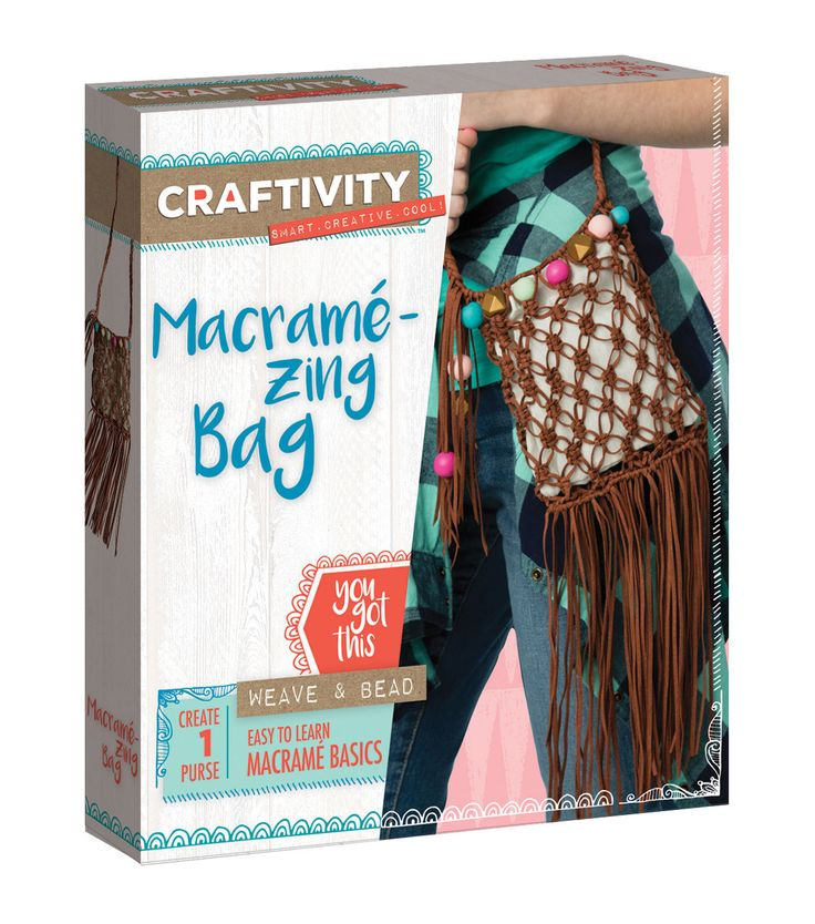 Creativity For Kids Macrame Zing Bag Kit Teen Girl CraftsCraft