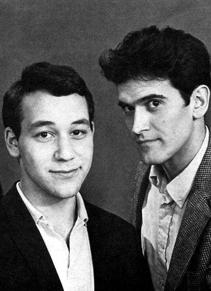 """The director and star of the original """"Evil Dead,"""" Sam Raimi and Bruce Campbell, circa 1981."""