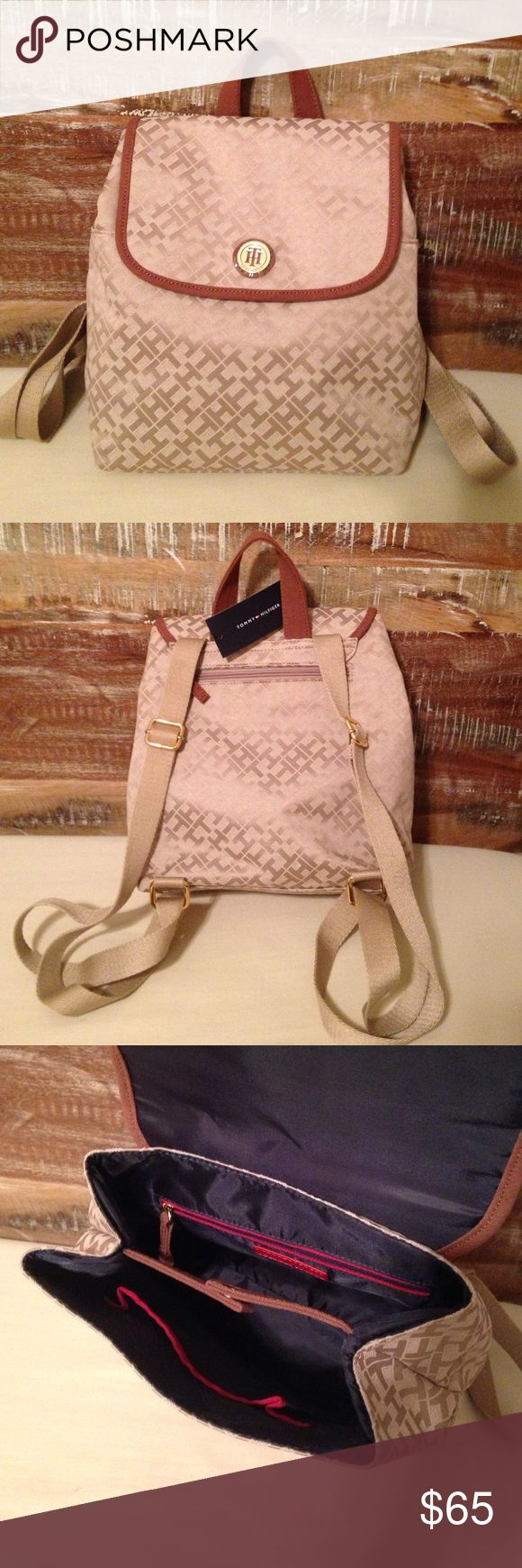 Tommy Hilfiger Beige Backpack NWT Tommy Hilfiger Beige Backpack. A purse size backpack, not book bag. Tommy Hilfiger Bags Backpacks
