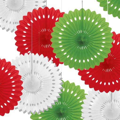 Abanicos de papel para colgar de navidad decoraciones - Decorativos de navidad ...