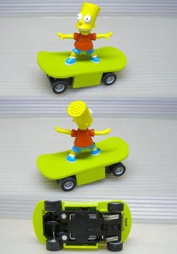 2004 Micro Scalextric BART SIMPSON Slot Skate Board Car