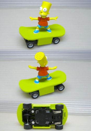 2004 Micro Scalextric BART SIMPSON Slot Skate Board Car
