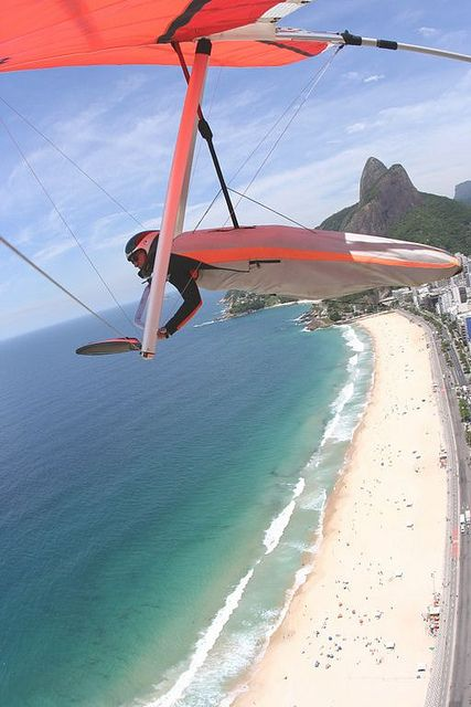 Hang gliding in Rio!! For my avid hang glider pilot husband, he would love it!
