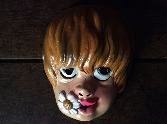 Vintage 1960s French Fancy Dress Mask / English by EnglishShop