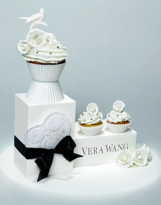 Yves saint laurent monogram cupcakes for a wedding